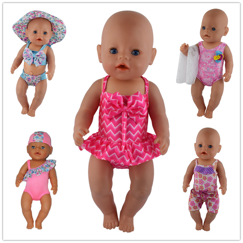 1 Pairs Bikini Doll Clothes Wear Fit 43cm Baby Doll Clothes And Accessories Children Best Birthday Gift