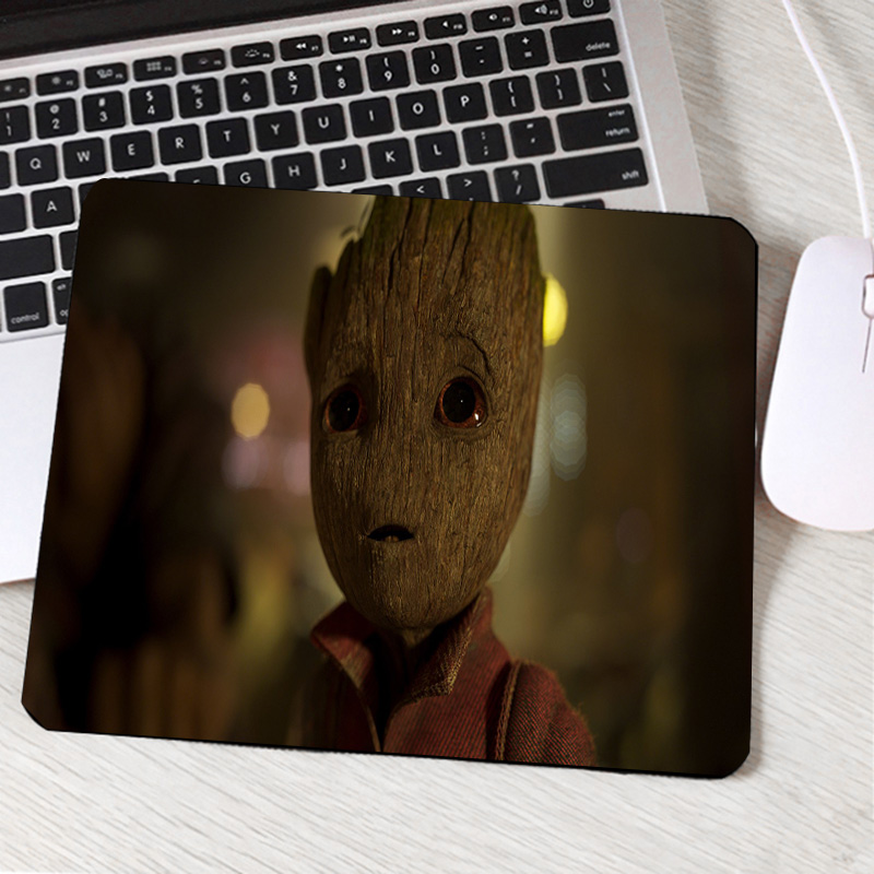 Mairuige Hot Movie Pattern Tree Man Groot Cute Pictures Printed Mousepad Computer Pc Game Gaming Mosue Pad for Movie Lovers