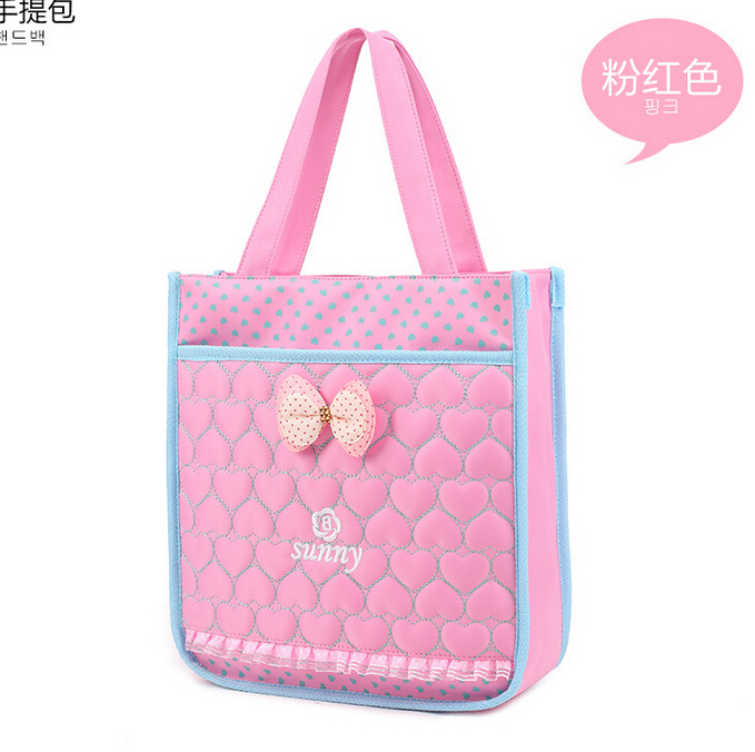 Fashion korean teen child girls hangdbags student book bag nylon primary kids girls bag for Korean style fashion girl bag