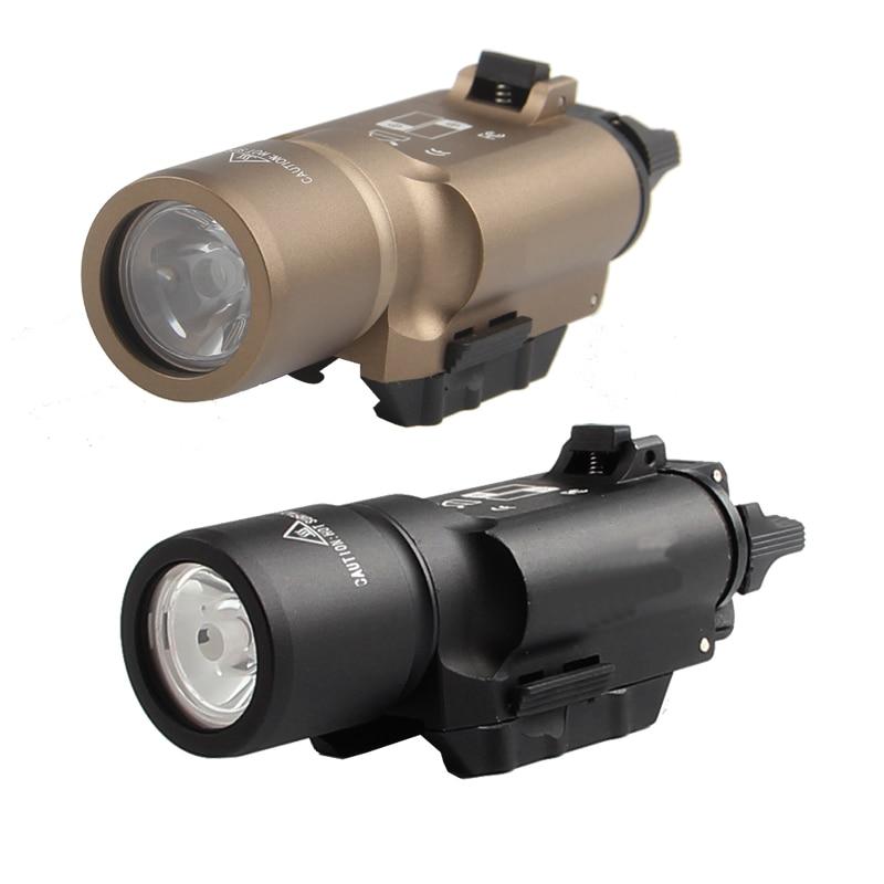 Torche X300 LED Arme légère lampe de Poche Torche Picatinny pour Tactique de Chasse Airsoft Fusil Pistolet Noir ou Tan RL8-0002