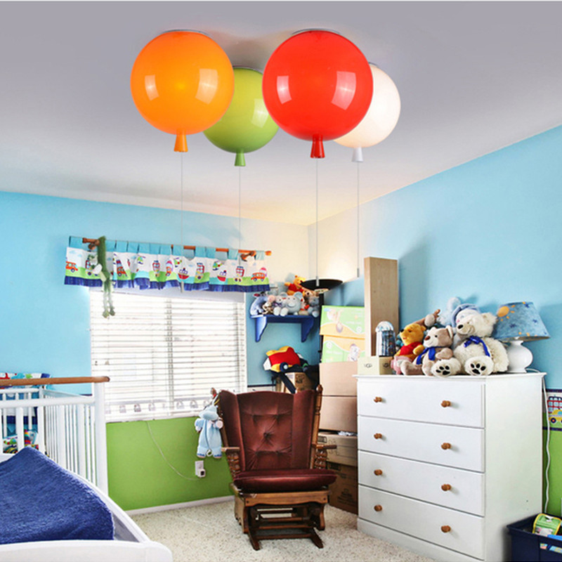 Wall Lamps Kids Rooms: Colorful Balloon Ceiling Lamp Kids Room Children Nursery