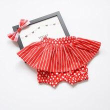 60-110cm Baby Girls Cotton Shorts Lovely Red Color Kids Children Shorts for Babies Panties bermudas calcinhas infantis menina