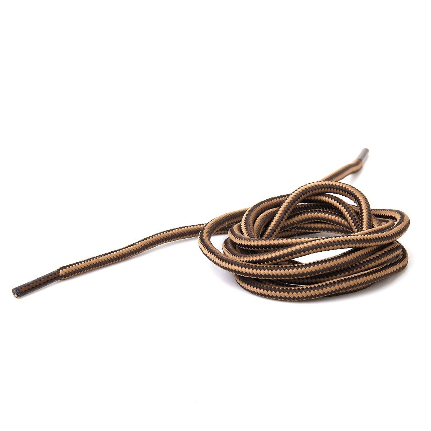 1 Pair 150 Cm Durable High Resistance Laces For Shoes - Brown Coffee Stripes