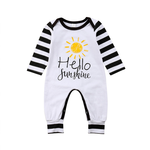 7f0e0b115585 0 24 Month Baby Clothing Casual Newborn Girl Boy Cotton Romper Long ...
