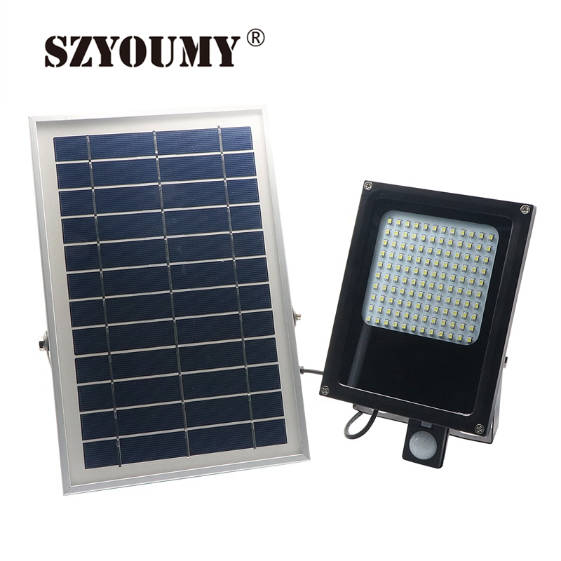 SZYOUMY Outdoor Solar Power Garden Emergency Lights 120 LEDs PIR Body Motion Sensor Solar Path Wall Floodlights Spotlights Lamps free shipping 10pcs lot pu 6 pneumatic fitting plastic pipe fitting pu6 pu8 pu4 pu10 pu12 push in quick joint connect