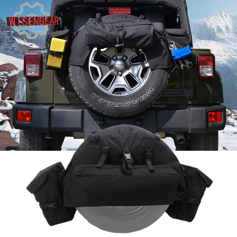 1Set Car Wheels Tires Parts Rear Spare Tire Bag Tire Cover ...