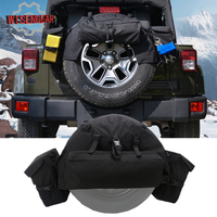 1Set Car Wheels Tires Parts Rear Spare Tire Bag Tire Cover with Multi Pockets Storage Bag for Jeep Wrangler JK YJ TJ CEN001