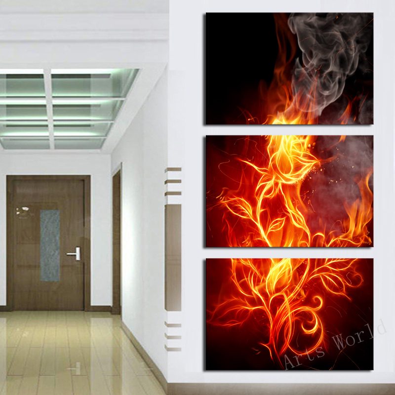 3 picture frames on wall contemporary pcsno framewall art abstract flower modern paintings for living room wall home decor canvas painting decoration oil paintingin calligraphy