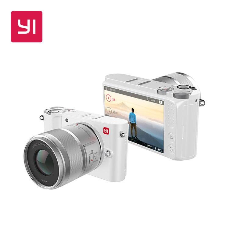 YI M1 Mirrorless cámara Digital primer Zoom lente LCD minimalista versión internacional 20MP grabadora de Video 720RGB cámara Digital