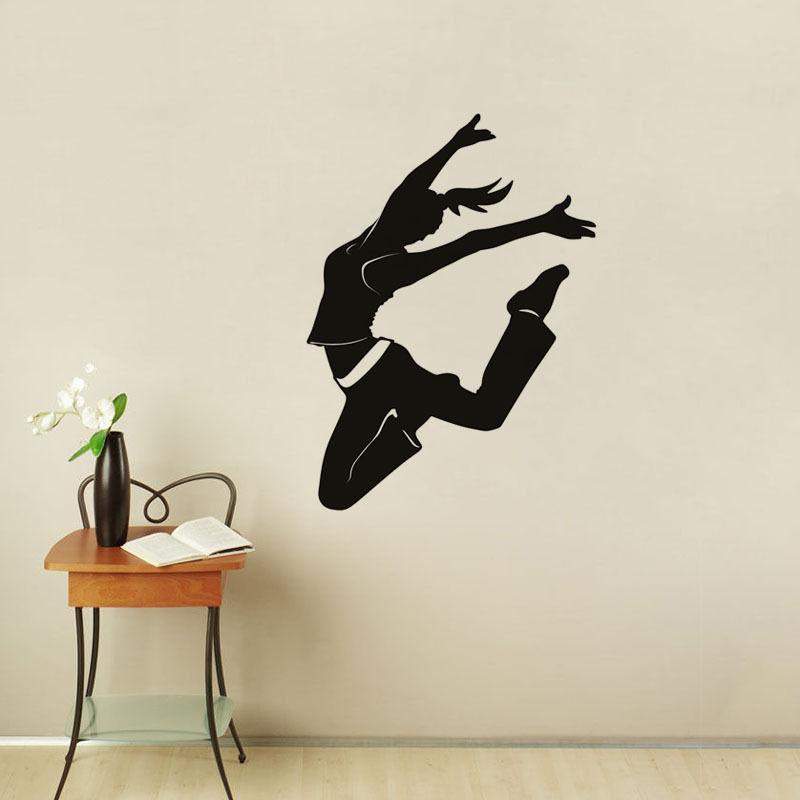 dance studio wall decors dancer wall stickers sport wall decals dancing roomchina mainland - Wall Decors