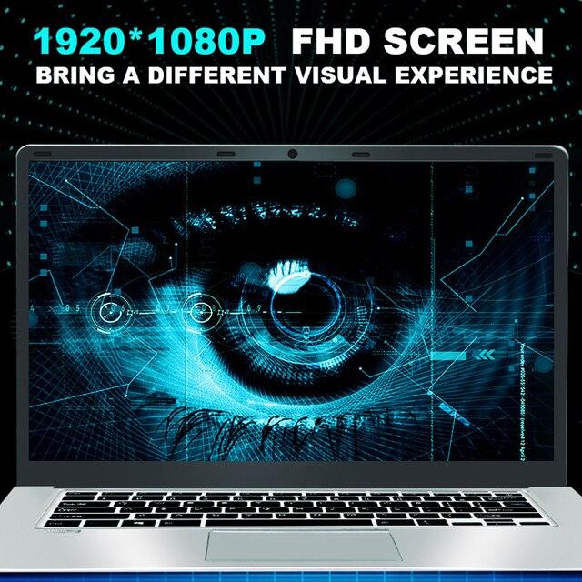 YEPO Laptop 15.6 inch 8GB RAM DDR4 128GB 256GB 512GB SSD 1TB HDD Ultrabook Gaming Laptops Intel J3455 Win10 Notebook Computer 3