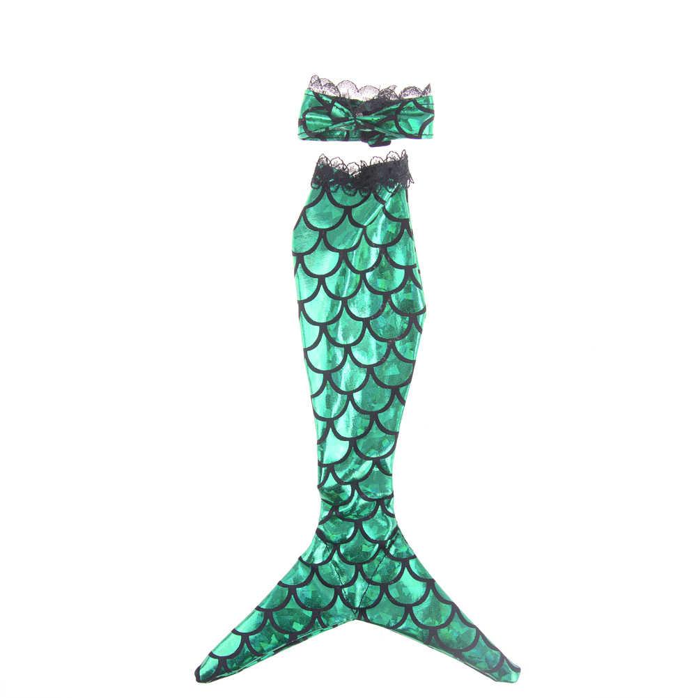 2 قطعة/المجموعة ثوب تنورة الأزياء الملابس اليدوية دمى حورية البحر الذيل اللباس الطفل لعبة حزب ل دمية