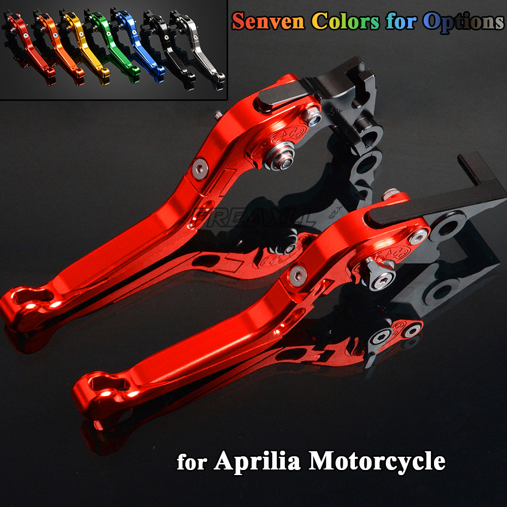 CNC Aluminum Motorbike Levers Motorcycle Brake Clutch Levers Foldable Extendable For Aprilia CAPONORD 1200 Rally 2014