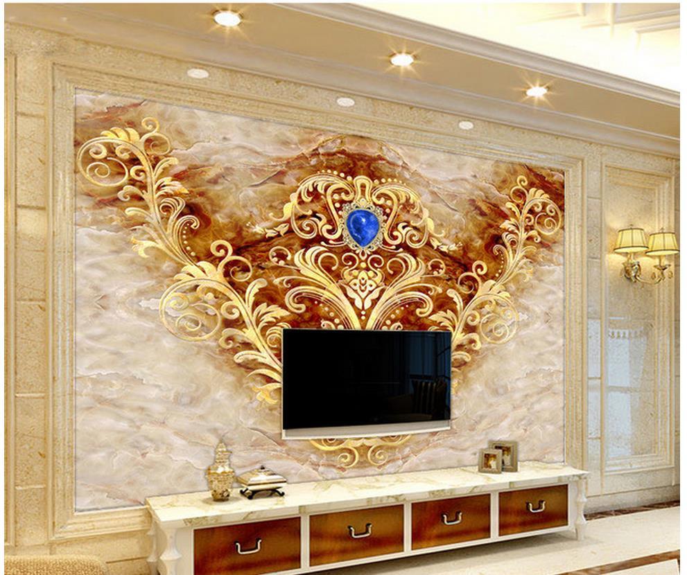 Papier Peint Pour Chambre ⑧personnalisé 3d murale papier peint décoration marbre