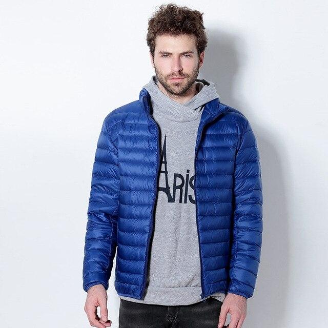 2016 Outono Inverno Jaqueta de Pato Para Baixo, Luz Ultra Fino plus size jaqueta de inverno para os homens mens Moda Outerwear casaco