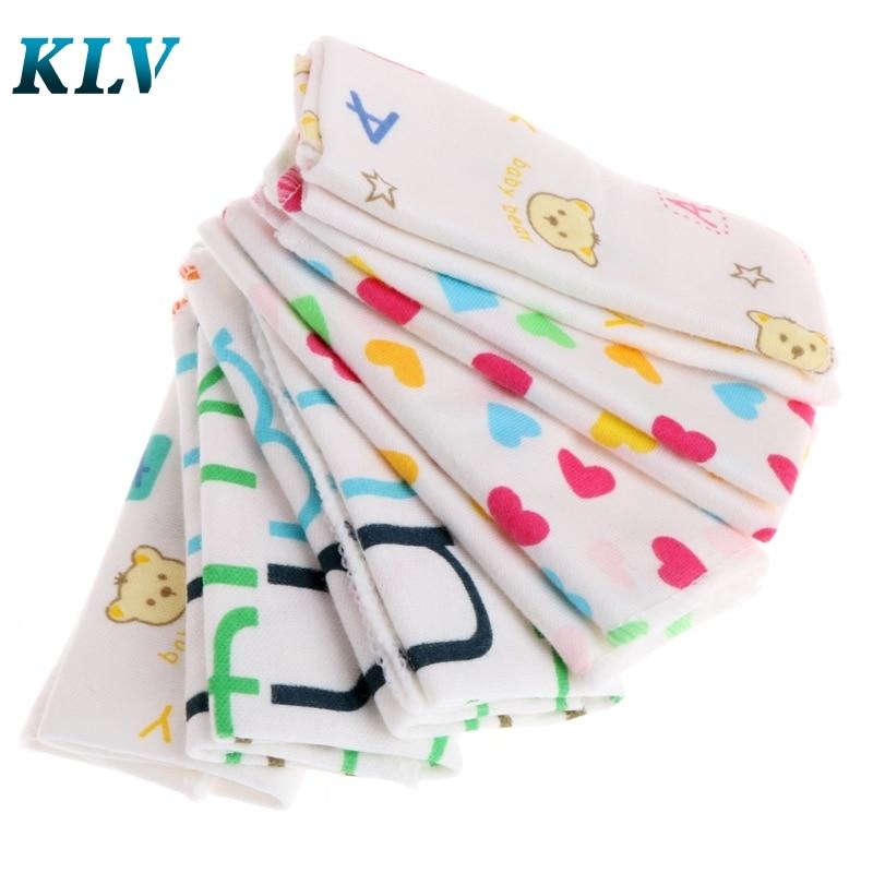 6Pcs Baby Cartoon Towels Handkerchief Bathing Feeding Face Washcloth Wipe Cloth #330