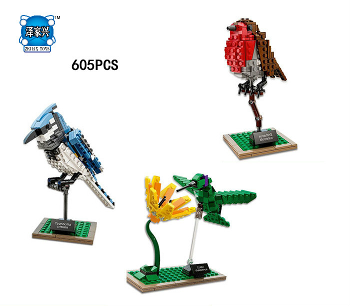 Hot Idear Nature Flower Birds Building Block Hummingbird Woodpecker Model Bricks Educational Toys Collection Compatible Lepins hummingbird gardens – attracting nature s jewels to your backyard paper