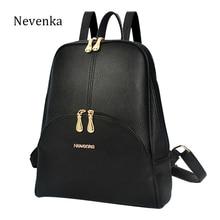 Nevenka Brand Women Bag Preppy Backpack Leather Student Zipper Bags Solid Pendants Preppy Sac Casual Backpacks Teenagers Mochila
