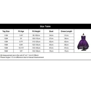 Image 5 - 2017 High quality princess dress girls wedding graduation gown purple children flower dress vestido de festa infantil menina
