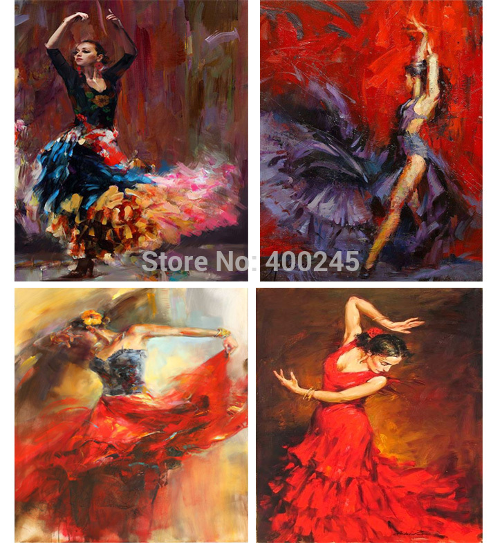 Modern art painting of woman ballerina Oil paintings on canvas for wall decor Christmas Gift Hand painted online gallery