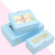 10 Pcs Unicorn Gift Paper Box Kids Birthday Wedding Party Kraft Paper Box With Window Cake Packaging Candy Cookies Cupcake Boxes цена и фото