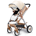 Free Shipping Baoneo Baby Stroller Water-Resistant PU Leather Shade Anti-Oxidation Metal Frame Infant Trolley Luxury Pram 4Color