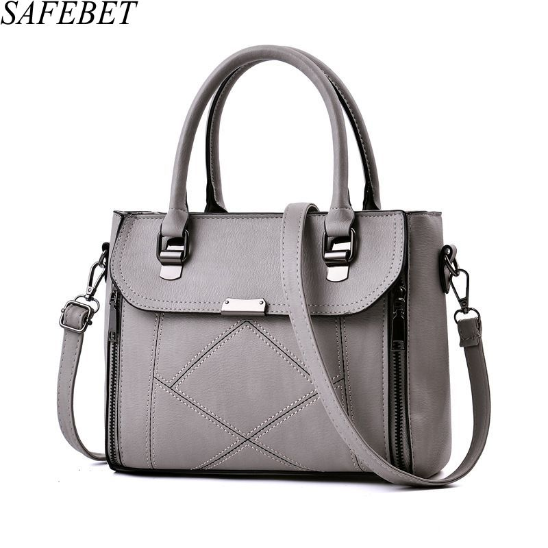 SAFEBET Brand 2017 High Quality PU Leather Female bag Handbags Fashion Handbags Elegant Luxury Women Shoulder bags Messenger bag micocah fashion women shoulder bag 2 colors quality brand handbags for female pu leather gh50007