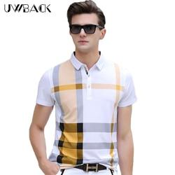 Uwback 2017 new summer polo shirt short sleeve plus size cotton plaid polo men luxury slim.jpg 250x250