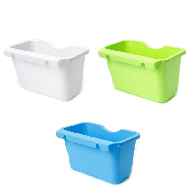Plastic Kitchen Cabinet Door Hanging Trash Garbage Can Bin Rubbish