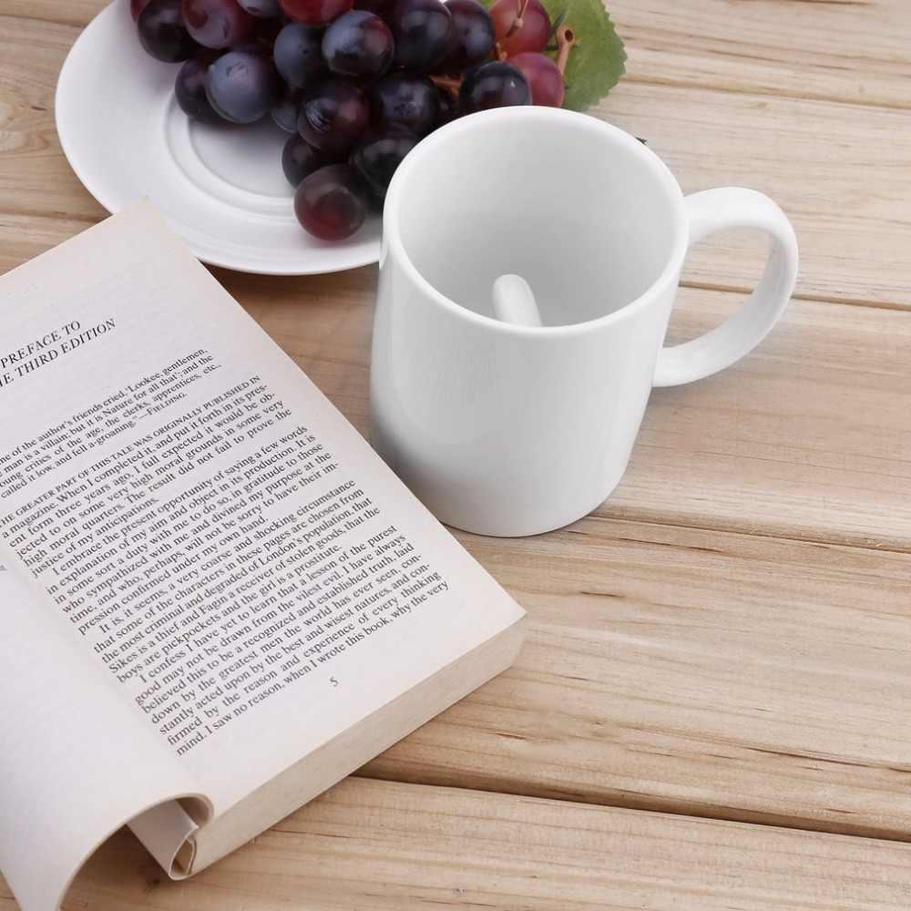 Kreatif Putih Cangkir Kopi Keramik Jari Tengah Lucu Cup untuk Kantor Kopi Teh Susu Cangkir Porselen Kepribadian Baru Hadiah