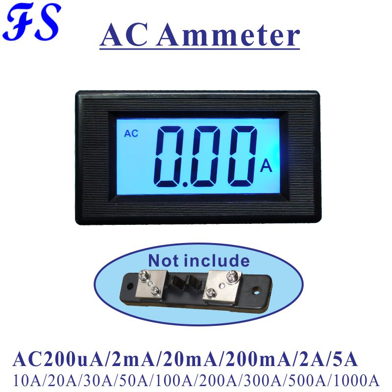 Yb5135d Ac Ampere Meter Lcd Digital Ammeter Ac 200ua 20ma 200ma 20a 50a Ac Amperemeter 100a 200a 500a 1000a Ac Current Tester Strong Resistance To Heat And Hard Wearing Tools Current Meters