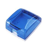 86 Type Puah Button Switch Cover Socket Panel Waterproof Box Splash Box Blue 86 Switch Waterproof