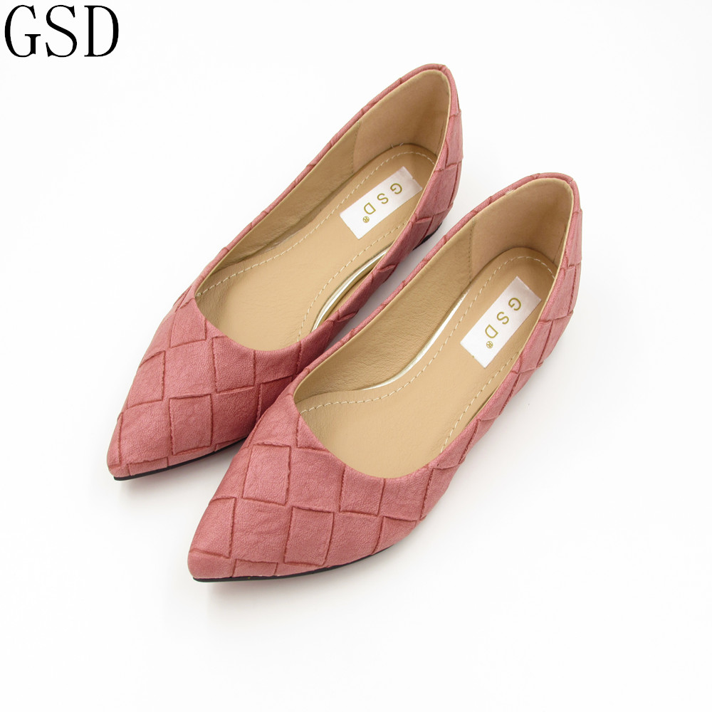 fashion  Gray Pink Black  Women's shoes comfortable flat shoes New arrival flats  -603-3-  Flats shoes large size Women shoes