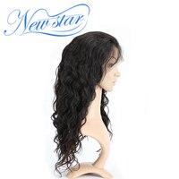 New star волос 360 Кружева Фронтальная парики объемная волна 180% Плотность предварительно сорвал волосяного покрова бразильские волосы парик