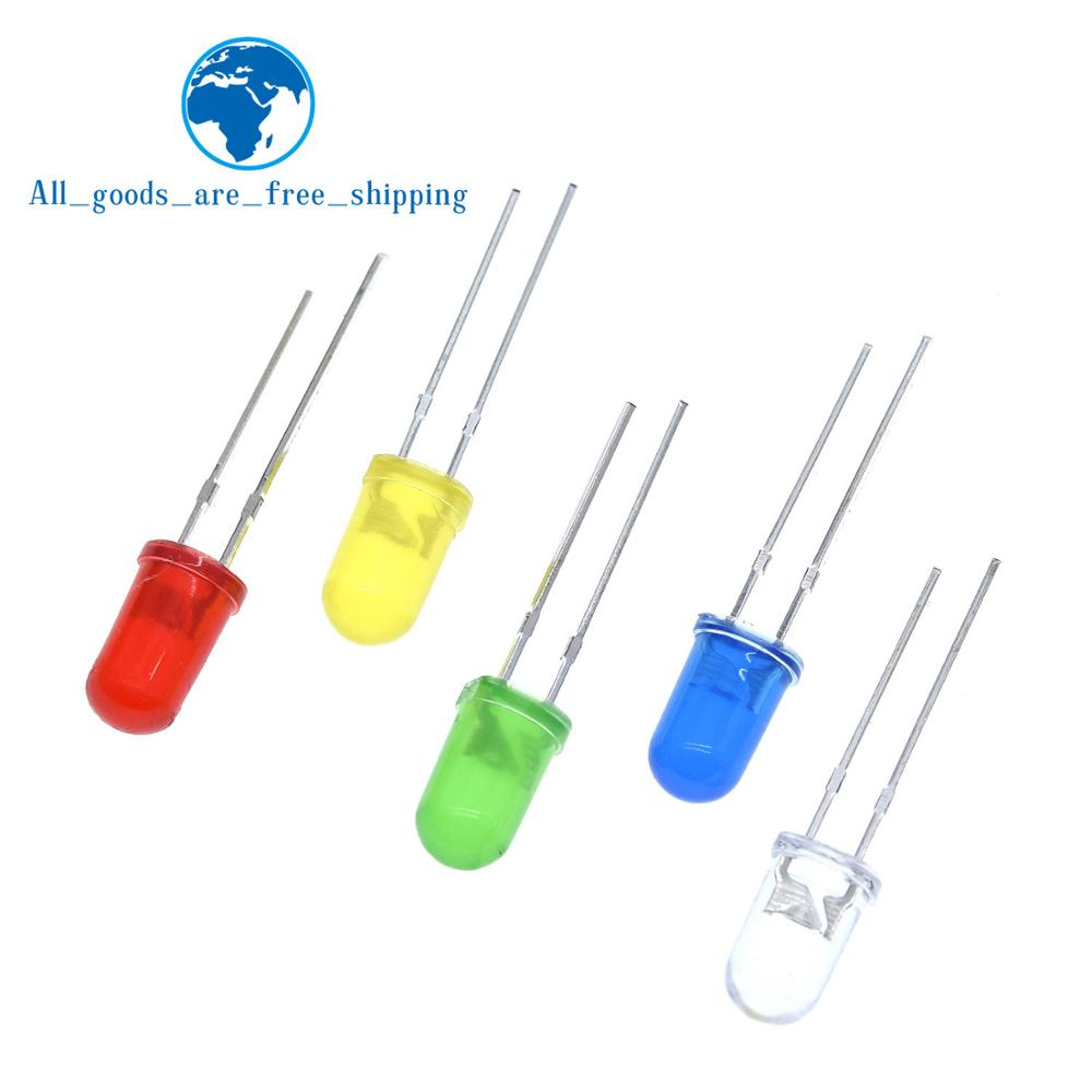 5colors*20pcs=100pcs 5mm Led Diode Light Assorted Kit Green Blue White Yellow Red Component Diy Kit New Original Electronic Components & Supplies