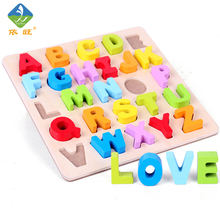 Kid Early Educational Toys Baby Hand Grasp Wooden Puzzle Toy Alphabet And Digit Learning Education Child Wood Jigsaw Toy