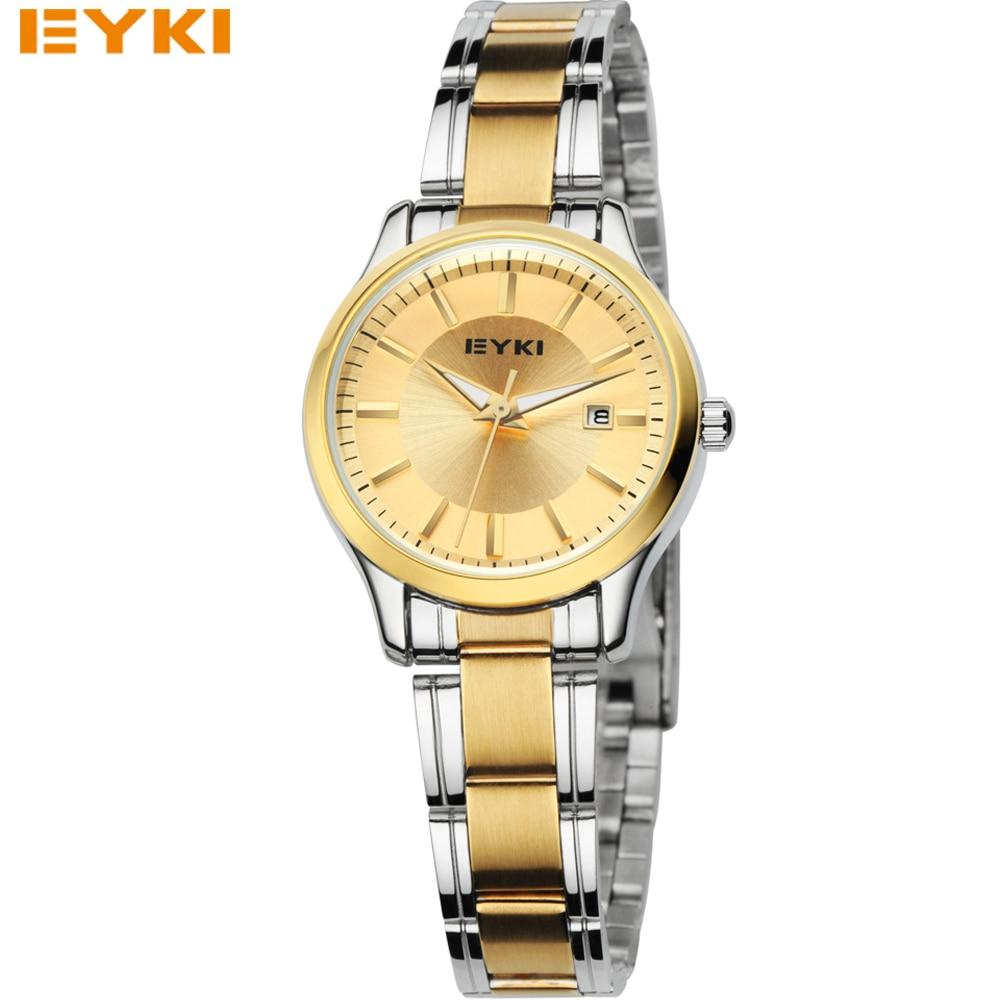EYKI Quartz Ladies Wristwatch Round Casual Business Brand Luxury Waterproof Full Stainless Steel Watches Women Dress watches