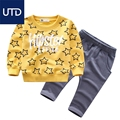 small child Manyin wear two piece cotton sweater suit 2017 boys all-match spring children suit