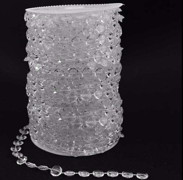 10mm Beads 30meters/roll Hanging Acrylic Bead Strand For Wedding Christmas Tree Centerpiece Decor