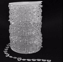 10mm kralen 30 meter/roll Opknoping Acryl Kraal Streng Voor Bruiloft Kerstboom Middelpunt Decor-in Kroonluchter Kristal van Licht & verlichting op