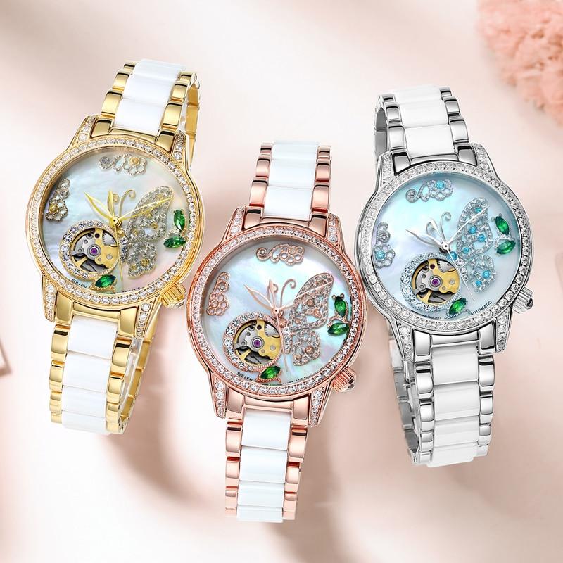 лучшая цена 2018 AAA Mechanical watch ladies brand luxury ladies automatic watch sapphire female watch waterproof Reloj Hombre