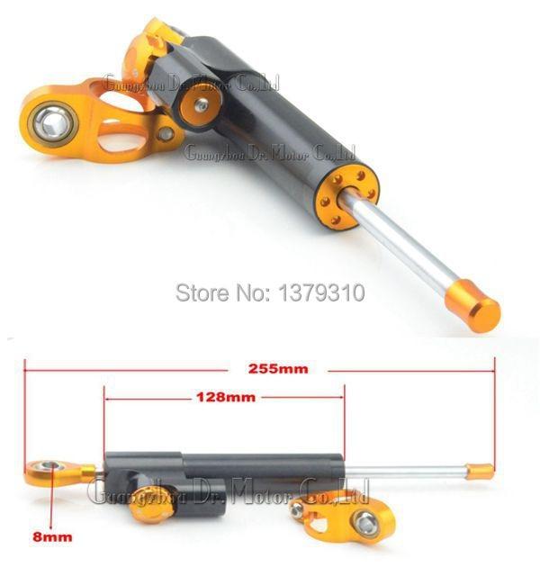 ФОТО Motorcycle CNC adjustable steering damper Stabilizer Linear Reversed Safety Control for BMW DUCATI SUZUKI YAMAHA HONDA