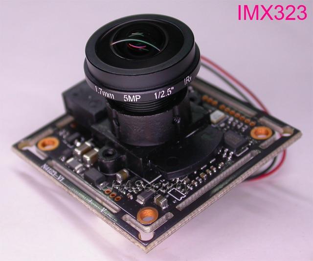 "FPV súper gran angular fisheye 1.7mm Len 1/2 9 ""Sony CMOS Exmor imx323 + nvp2441 CCTV placa del módulo de la Cámara + cable OSD + IRC"