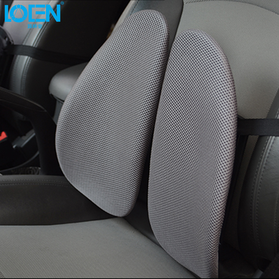 LOEN Back Waist Pain Support Cushion for Car Drive Seat Office Chair Lumbar Support for Men Women for Work With Elastic Belt