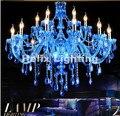 Бесплатная доставка  Прямая продажа с фабрики  синяя хрустальная люстра  традиционная стеклянная люстра 8L/8 + 4L/12 + 6L  люстра для дома