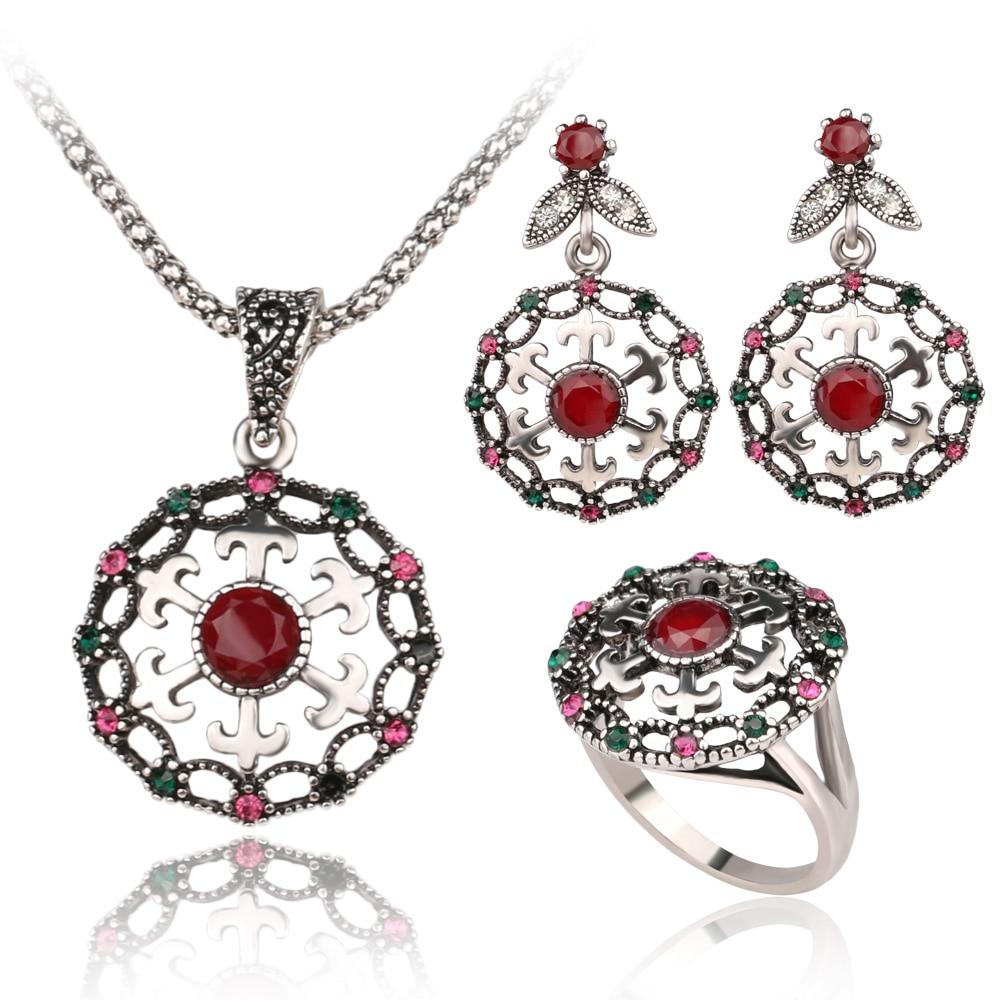 Fashion Femmes de luxe cristal Plaqué or Collier Boucle d/'oreille Party Jewelry Set