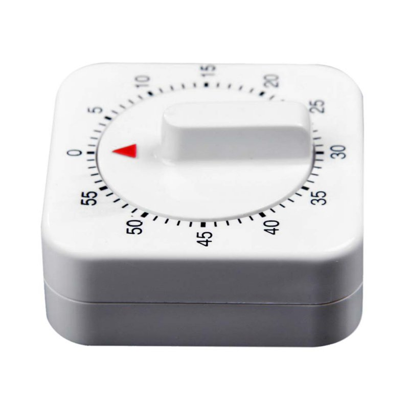 Clock Kitchen Timers Novelty White Square 60-Minute Mechanical Timer Reminder Counting Count Down Alarm
