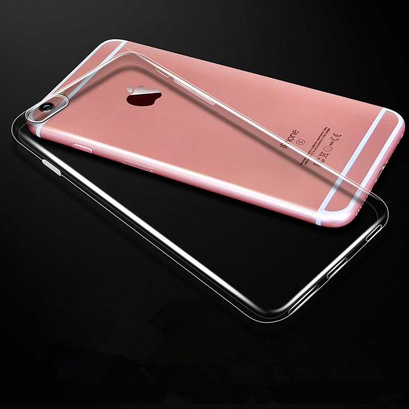 High quality Transparent soft TPU Cell Mobile Phone Shell Clear Protective Cover Case for iPhone 5 6 7 8 7plus 8plus X XS MAX XR in Fitted Cases from Cellphones Telecommunications