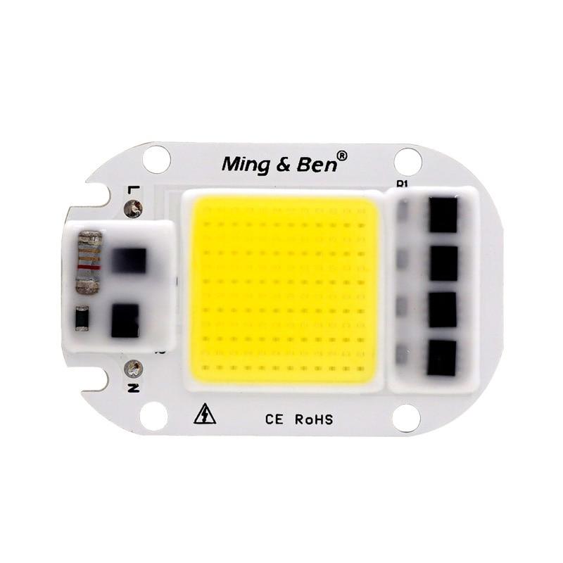LED COB Lamp Chip 5W 20W 30W 50W Led Chips 220V Input Smart IC Driver Fit For DIY LED Floodlight Spotlight Cold White Warm White