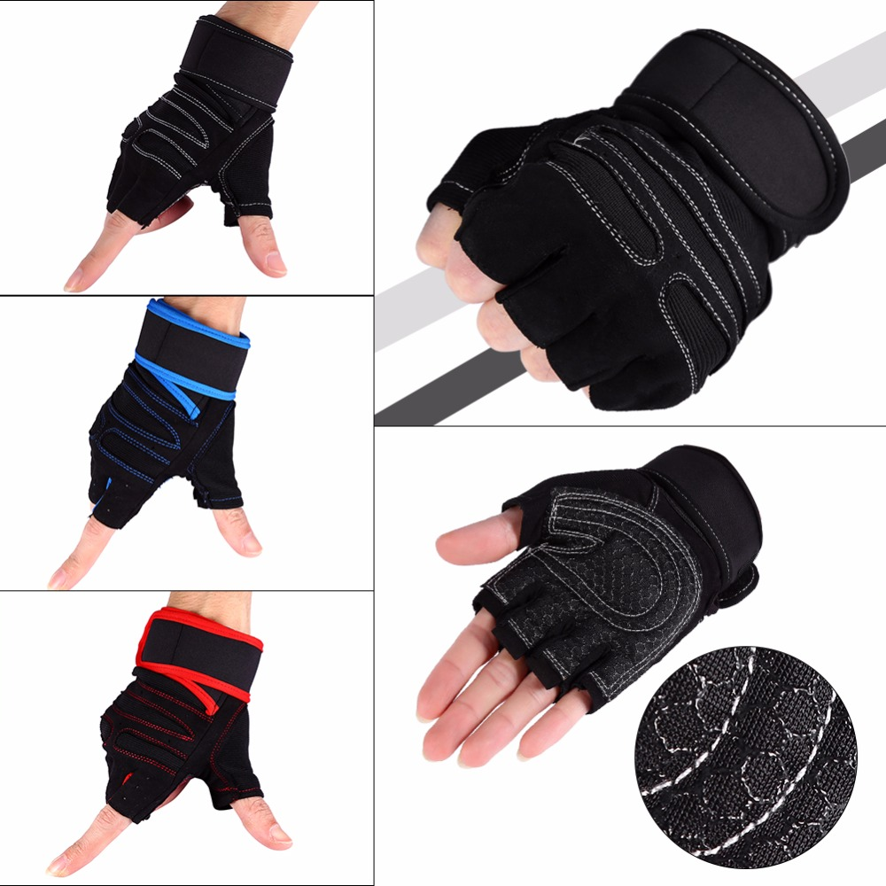 1 Pair Weight Lifting Gloves Half Finger Fitness G...